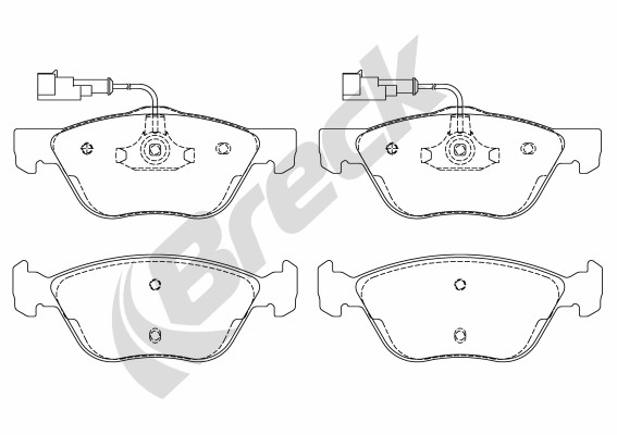 Brake Pad Set, disc brake - 21636 00 701 10