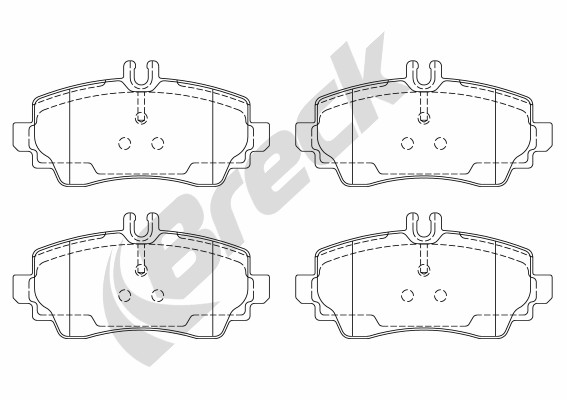Brake Pad Set, disc brake - 23070 10 701 20