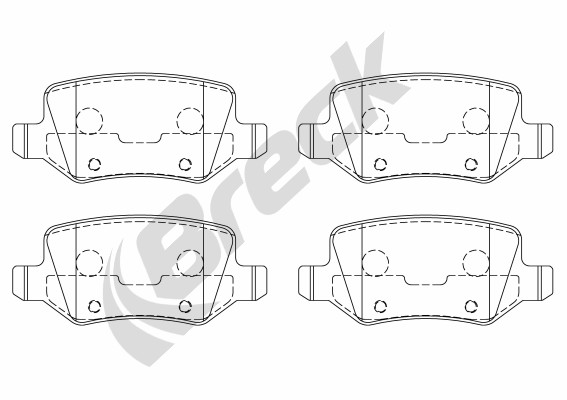 Brake Pad Set, disc brake - 23138 00 704 00