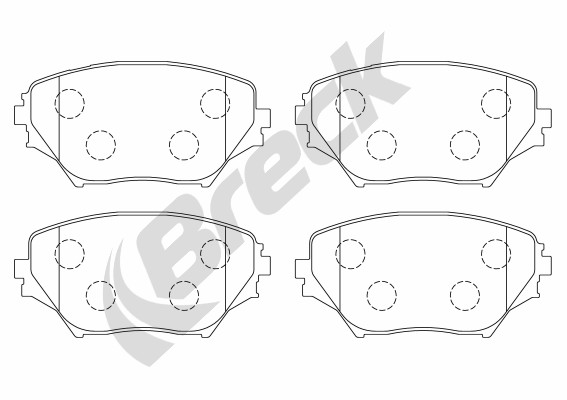 Brake Pad Set, disc brake - 23585 00 701 00