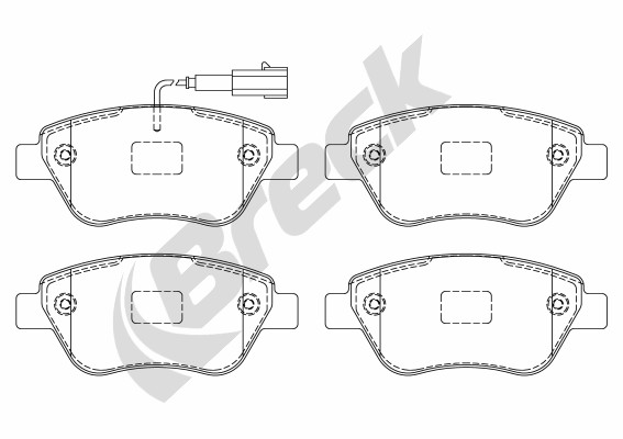 Brake Pad Set, disc brake - 23979 00 701 10