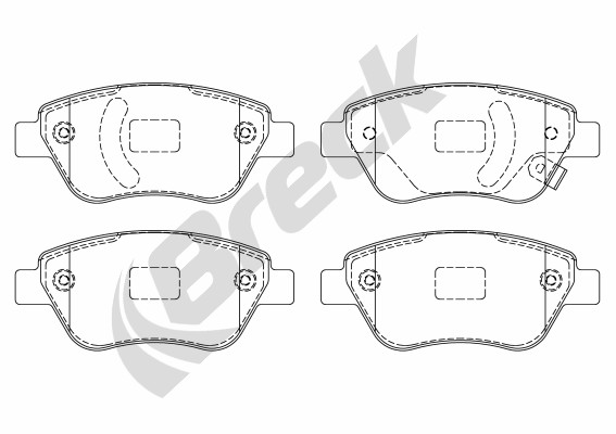 Brake Pad Set, disc brake - 23982 00 702 10