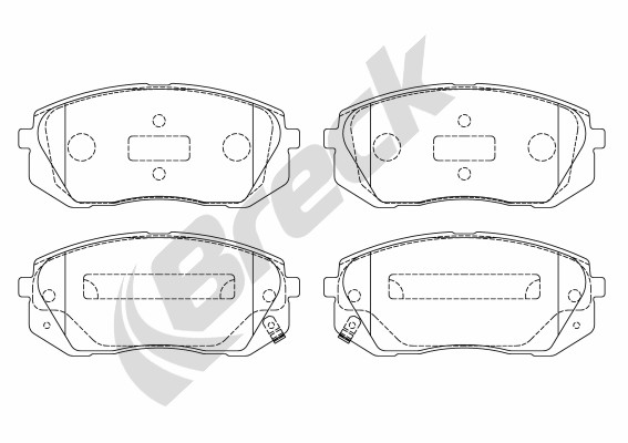 Brake Pad Set, disc brake - 24501 00 701 00