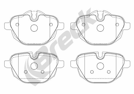 Brake Pad Set, disc brake - 24561 00 552 00