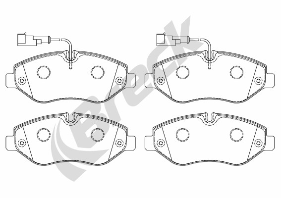 Brake Pad Set, disc brake - 29229 00 703 10