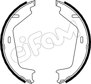 Brake Shoe Set, parking brake - 153-479 CIFAM