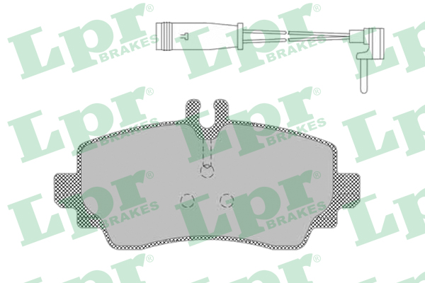 Brake Pad Set, disc brake - 05P1387