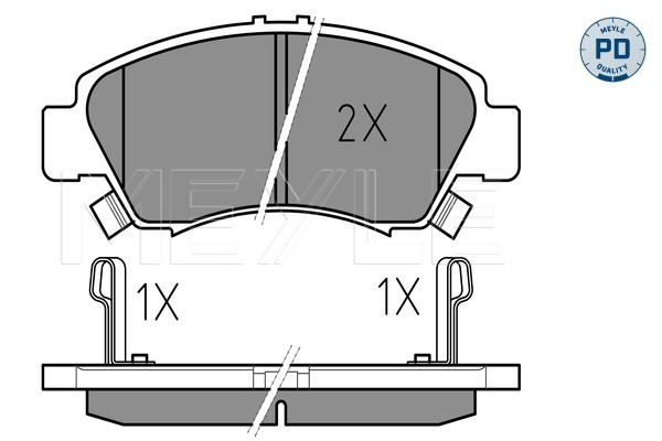Brake Pad Set, disc brake - 025 216 9715/PD