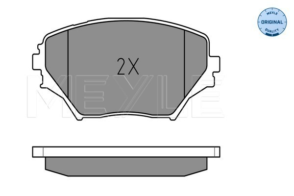 Brake Pad Set, disc brake - 025 235 8517