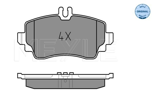 Brake Pad Set, disc brake - 025 239 0319