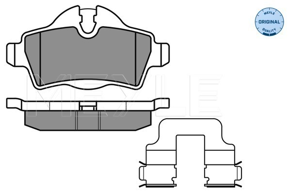 Brake Pad Set, disc brake - 025 242 8917