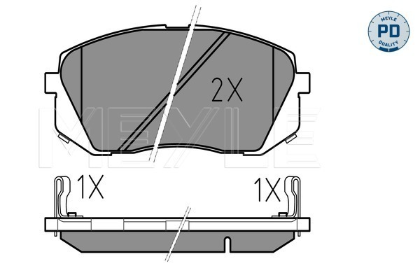 Brake Pad Set, disc brake - 025 245 0116/PD