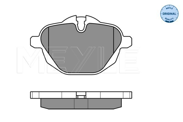 Brake Pad Set, disc brake - 025 245 6118