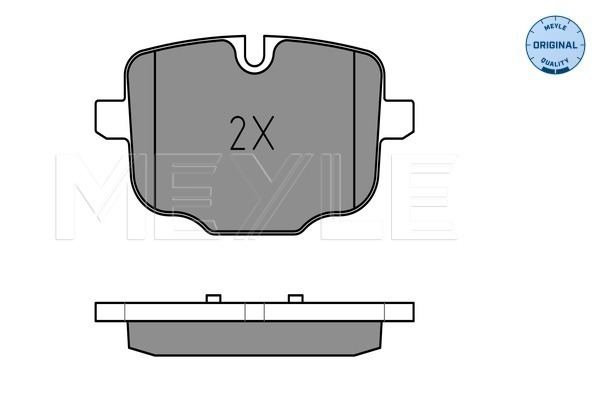 Brake Pad Set, disc brake - 025 247 0318
