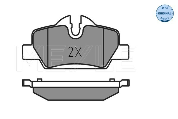 Brake Pad Set, disc brake - 025 259 8016