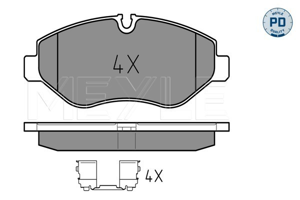 Brake Pad Set, disc brake - 025 291 9220/PD