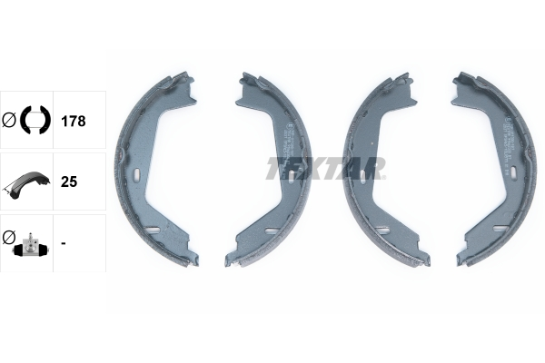 Brake Shoe Set, parking brake - 91062300 TEXTAR