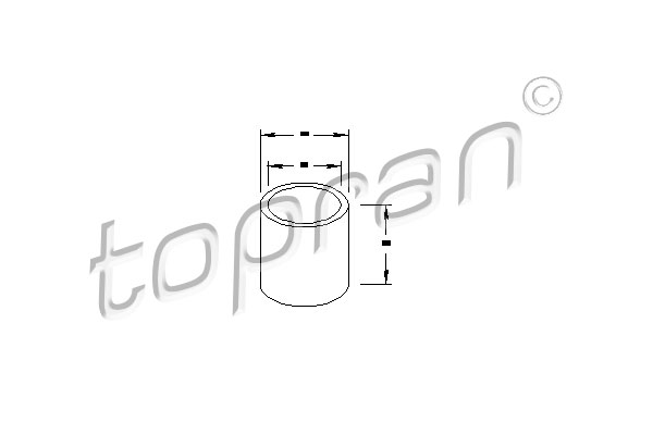 Bush, starter shaft - 100 053 TOPRAN