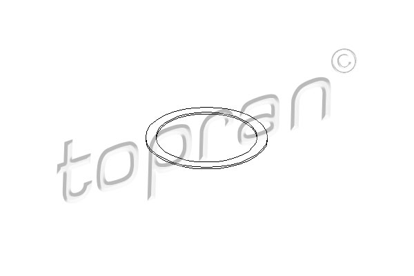 Gasket, exhaust pipe - 205 653 TOPRAN - 205 653