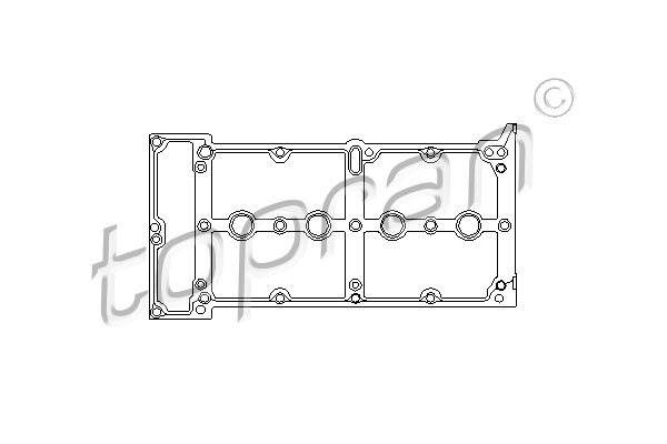 Gasket, cylinder head cover - 207 620 TOPRAN - 207 620