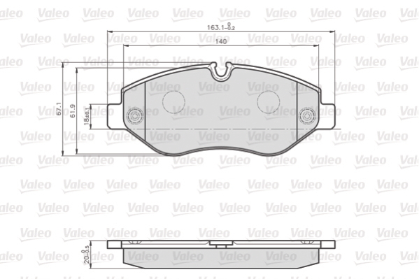 Brake Pad Set, disc brake - 872192